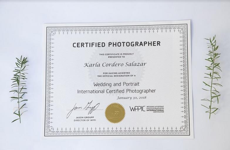 certificación de fotografía