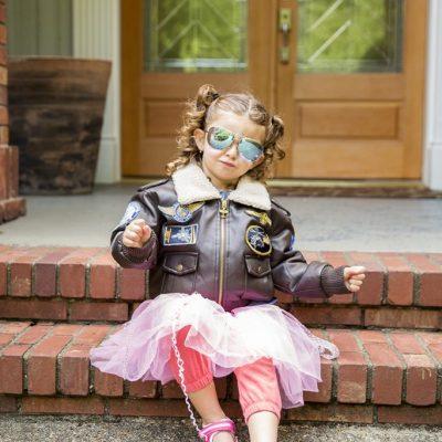 sesion foto niña anteojos aviador tutu