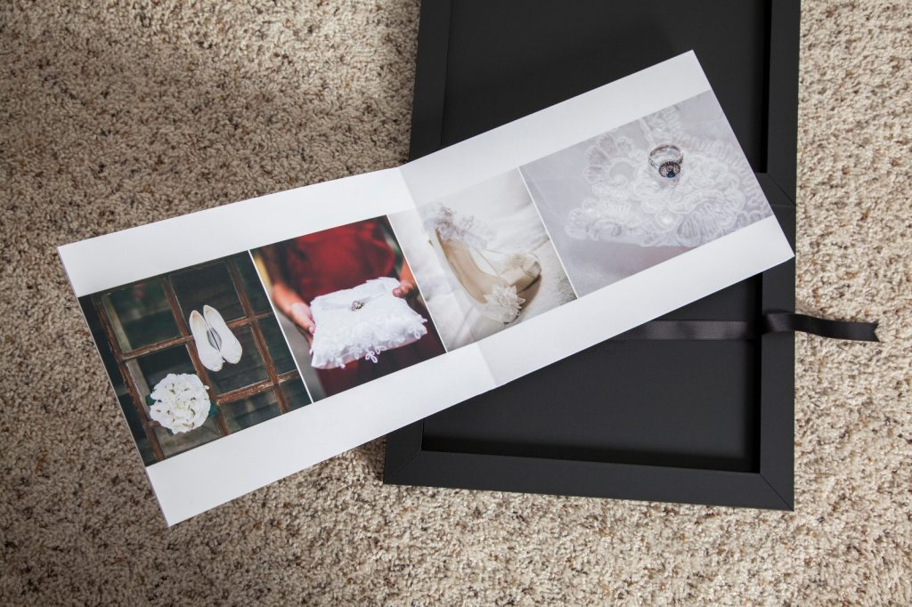 photo album with model