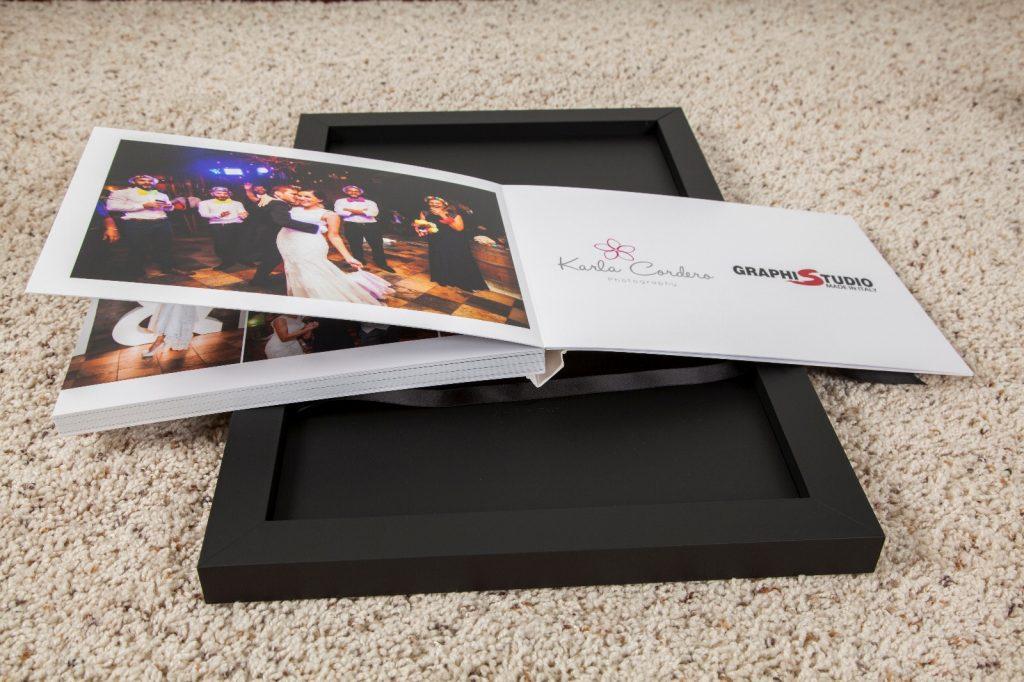 photo album with wedding picture