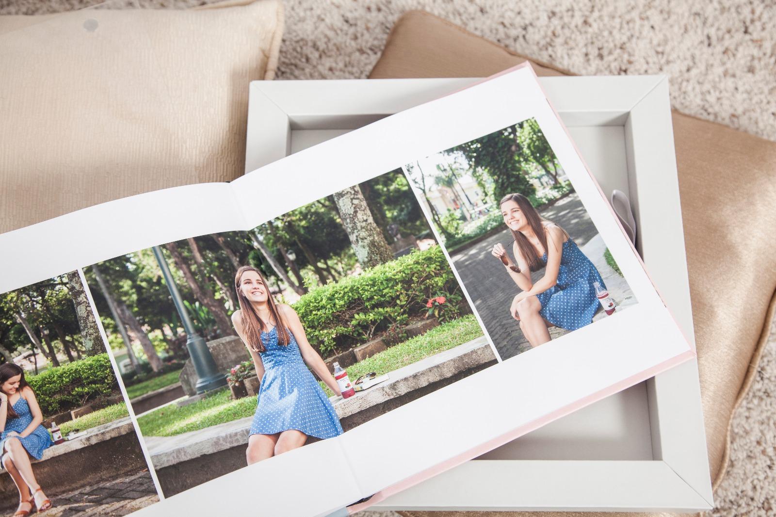 photo album with girl