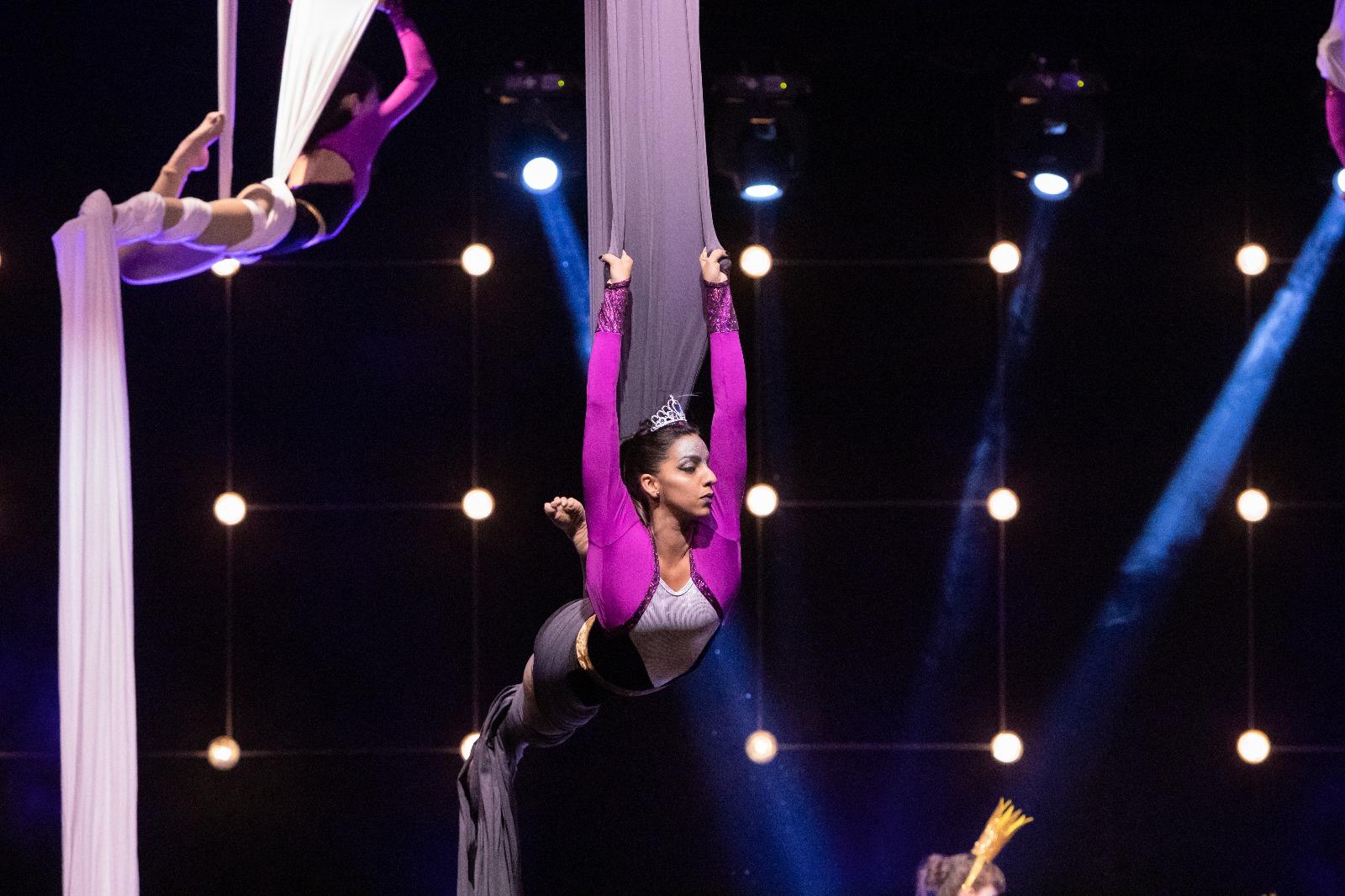 aerial silk dancer