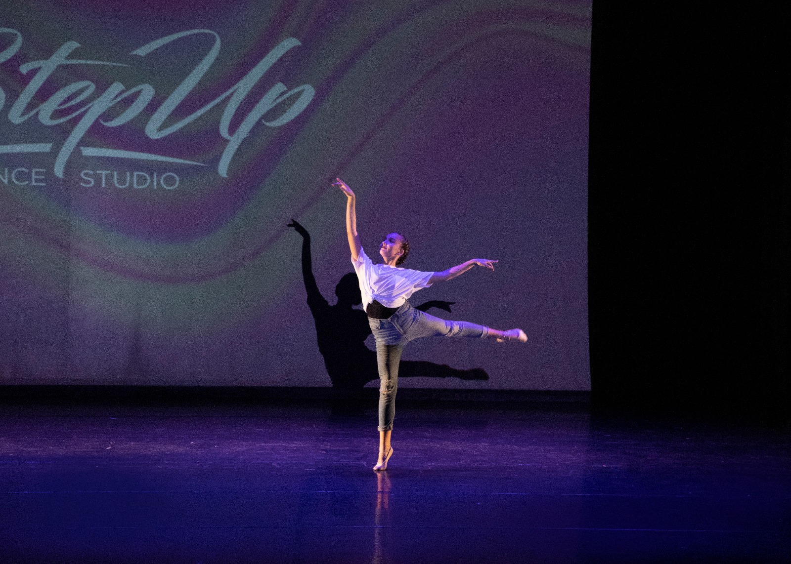 one dancer in pose