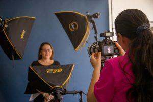Photography shoot in studio