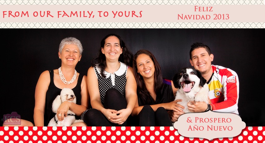 Christmas card from our family to yours with family