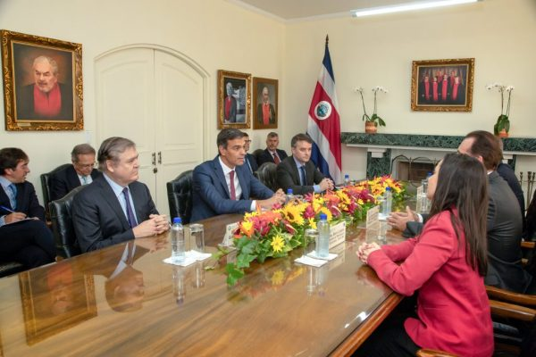fotografia corte interamericana de derehos humanos diplomaticos Presidente España en costa rica