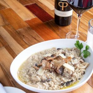 Foto de comida, risotto con hongos, Karla Cordero Photography
