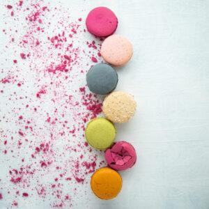 Foto de producto, macaron de colores, Karla Cordero Photography